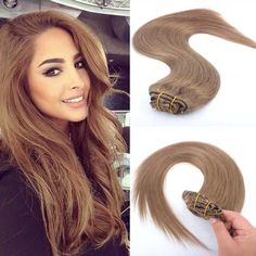 #8 Light Brown Clip in Human Hair Extension European Clip in Hair Straight Clip in Human Hair Extension For White Women //Price: $US $34.83 & FREE Shipping //   http://humanhairemporium.com/products/8-light-brown-clip-in-human-hair-extension-european-clip-in-hair-straight-clip-in-human-hair-extension-for-white-women/  #wigs