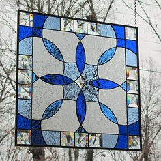 Stained Glass Hanging Panel Beveled Shades of by LivingGlassArt, $200.00