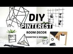 Diy pinterest room decor   Geometric inspired   Minimal & Affordable - YouTube
