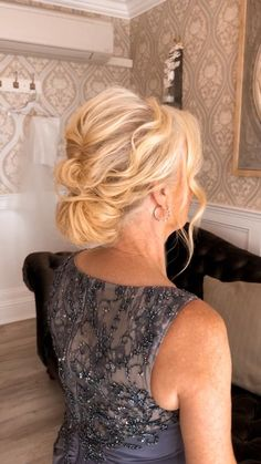 Short Hair Updo, Short Wedding Hair, Wedding Hair And Makeup, Wedding Updo, Bridal Hair, Short Hair Styles, Mother Of The Groom Hairstyles, Mother Of The Bride Hairdos, Mom Hairstyles