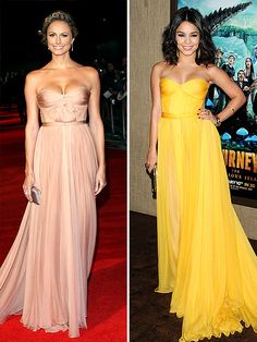 This is a great dress in both colors! I think the blush one could even work as a wedding dress.