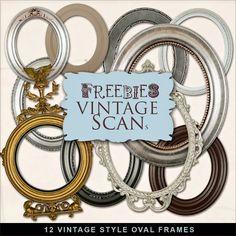 Far Far Hill: Freebies Kit - Vintage Style Oval Frames