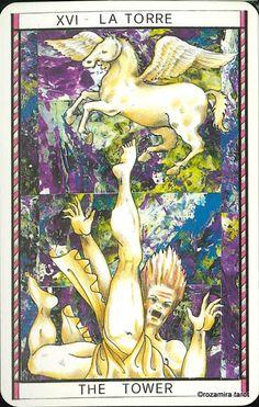 XVI. The Tower - Tarocco Mitologico by Amerigo Folchi