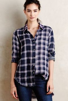 Synopses Plaid Buttondown