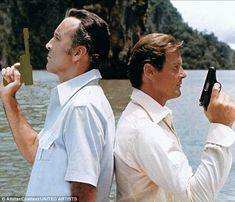 The 1974 film The Man With The Golden Gun starred Christopher Lee as villain Francisco Scaramanga and Roger Moore