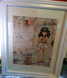 Collage and mixed media - Prima Dolls | Wendy Schultz - Collage.