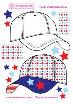 july 4th baseball cap free printable
