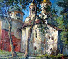 """Russian Master: Nazarenko Vladimir - """"June In Spaso-Preobrazhensky Monastery"""" - oil, canvas"""
