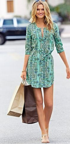 Como usar: vestido chemise - Claudia Basso