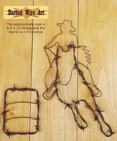Barrel Racer  Handmade metal decor barbed wire by BarbedWireArtist