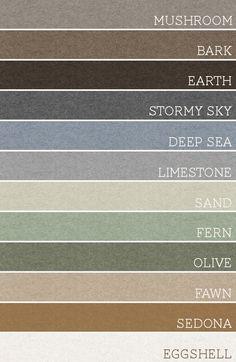 Whole house color pallet