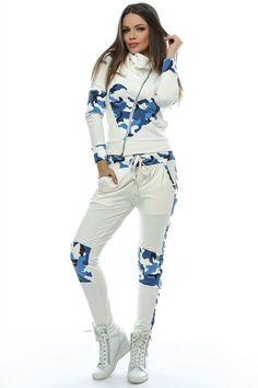 Lady's white blue set Foggi Air - Riflové clothes for women