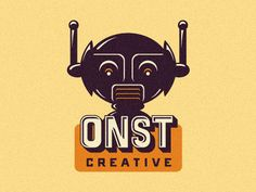 Dribbble - ONST Creative - Further Robotic Logo Exploration. by Emir Ayouni