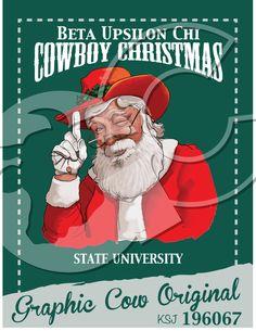Cowboy Christmas Santa Claus #grafcow