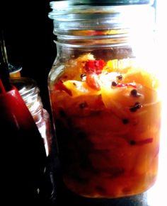 """আমমাম্রফলং পিষ্টং রাজিকালবণান্বিতম ভৃষ্টহিঙ্গুযুতং পুতং ঘোলিতং জালিরুচ্যতে  Dry roast asafoetida gum, make powder of it, wash and peel raw mango, put in a bowl of fresh water to remove the tannin. Grind the raw mangoes, mustard seeds, asafoetida, and salt, mix with plain water to make whey from it. Strain and store in a glass or stone jar. It is called """"jali."""" It is used traditionally as a home remedy to improve voice quality,  itchy tongue, loss of appetite or food apathy.   Mango Pickle - Aame Mango Fruit, Mango Tree, Mango Pulp, Bengali Food, Dried Mangoes, Sweet Pickles, Fruits And Vegetables, Chutney"""