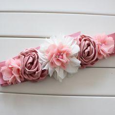 Bauchbänder - Bauchband Schwangere Blumengürtel Gürtel Fotoshoot - ein Designerstück von jenirella bei DaWanda
