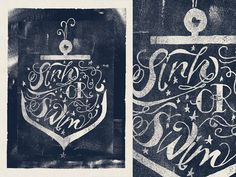 Sink Or Swim by Adam Grason , via Behance
