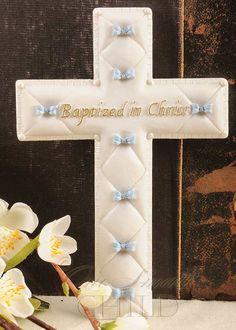 Boy Porcelain Wall Cross Baptism Gift