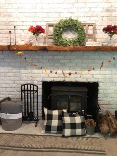 DIY fall garland and mantle decor - Our Tiny Nest Fall Fireplace Decor, Faux Fireplace, Mantle, Fall Decor, Holiday Decor, Fall Garland, Holidays And Events, Home Decor Inspiration, Christmas Home