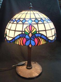 lampara tittany vidrio,bronce,estaño tiffany
