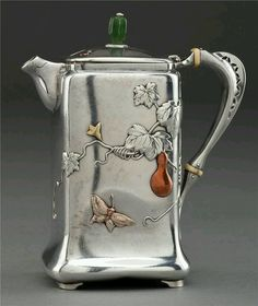"""Lovely heart things: Antiques: """"Silver tea and coffee"""" Chocolate Pots, Chocolate Coffee, Art Nouveau, Tee Set, Teapots Unique, Silver Teapot, Zinn, Cuppa Tea, Teapots And Cups"""