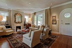 window idea with crown molding
