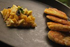 Savory Breakfast Pancakes with Fruit Relish