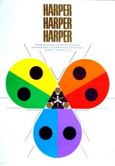 Charley Harper - Harper Harper Harper 1977 exhibition poster- I so need to find this for Harper's room!!