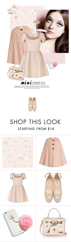 """Like a doll"" by pippi-loves-music ❤ liked on Polyvore featuring Captiva, Roksanda, Valentino, Dolce&Gabbana, Cara and minidress"