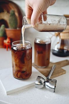 Smoky Horchata Cold Brewed Coffee Cocktail Recipe by Kristin of Dine X Design created exclusively for Discover, a blog by World Market #DiscoverWorldMarket
