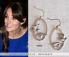 RepliKate of Catherine Zoraida fern hoop earrings