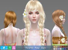 YU195 May Sun hair (Pay) at Newsea Sims 4 • Sims 4 Updates