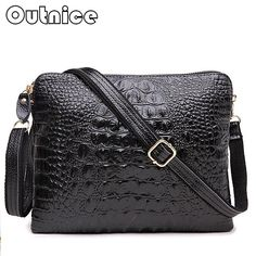 Fashion Clutch Bag Genuine Leather Women Messenger Bags Crocodile Pattern Luxury Handbags Female Bags Designer Crossbody Bag #clothing,#shoes,#jewelry,#women,#men,#hats,#watches,#belts,#fashion,#style