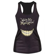 Casual U-Neck Tooth Print Sleeveless Tank Top For Women