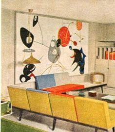 Vintage Mid Century Modern Decorating Ideas Book Interior Eichler Eames 1960, Secret Design Studio knows mid century modern architecture.  www.secretdesignstudio.com