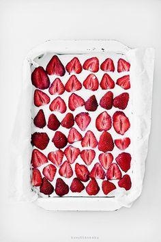 Aardbeien Kokos cheesecake