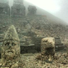 #nemrut #mountain #commagene #historical #thrones #kings #head #gods #adiyaman #turkey #clouds #climb #mist - @venominfernus- #webstagram