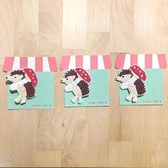 高円寺のToo-tickiのハリネズミ大会は22日からです 台紙をToo-tickiさんっぽくしてみました #Too-ticki #ハリネズミ大会 #高円寺 #ハリネズミ #hedgehog #embroidery #brooch #ブローチ #刺繍 #刺繍ブローチ
