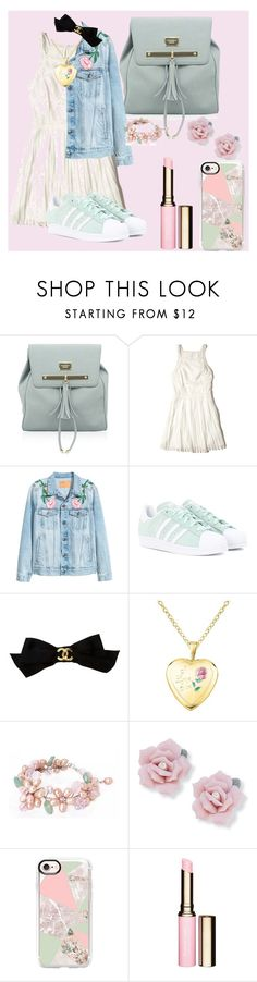 """""""Pink & Mint"""" by solbustos ❤ liked on Polyvore featuring Hollister Co., adidas Originals, Chanel, NOVICA, Palm Beach Jewelry, Casetify and Clarins"""