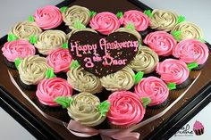 Mini Cupcakes Heart/Love Twist Taste Straberry & Avocado