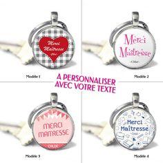 Cadeau pour maitresse - Porte-clés MERCI MAITRESSE   MAITRE   ATSEM personnalisable  avec vos textes PRIX   6,90€ 76cd19a56a4