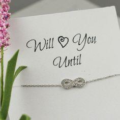 Infinity Bracelet,Sterling Silver, Best Friend Gift, Girlfriend Gift, Cubic Zirconia Crystal, Mother Gift, Fashion Bracelet, Endless Love on Wanelo