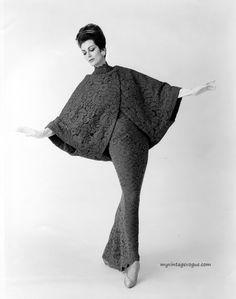 """myvintagevogue: """"Carmen Dell'Orefice wearing gown by Werle' Originals"""""""