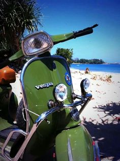 Vespa and the Beach, life is good
