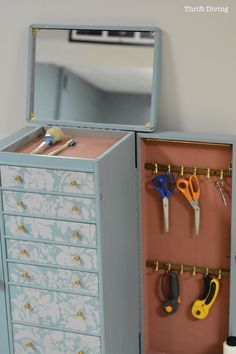 Get Organized: Turn An Old Jewelry Box Into A Diy Craft Organizer