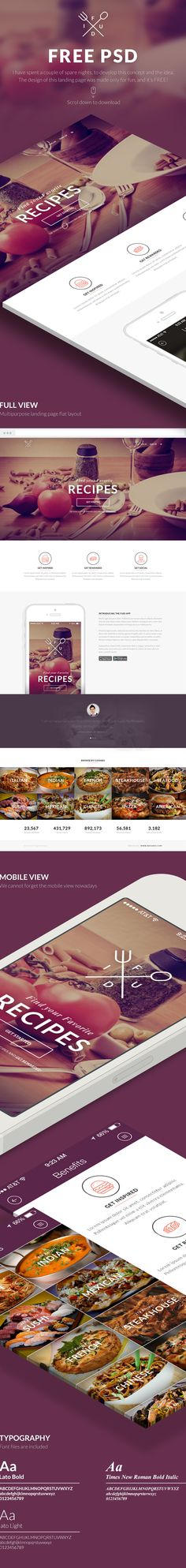 FREE PSD, Multipurpose Landing Page! by Kristijan Binski, via Behance
