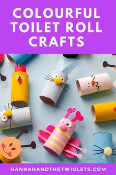 Are you looking for some super simple craft ideas to keep little ones entertained? You can't get much easier than activities using the humble toilet roll :) So here are 30 colourful cardboard tube crafts to try with your kids at home! #hannahandthetwiglets #toiletrollcrafts #colourfulcraft #craftingwithkids #craftideas #craftactivities #homelearning