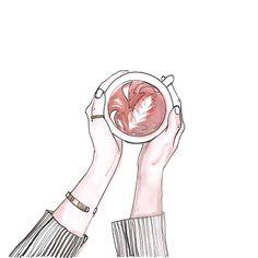 Coffee - Marie Bodié illustration