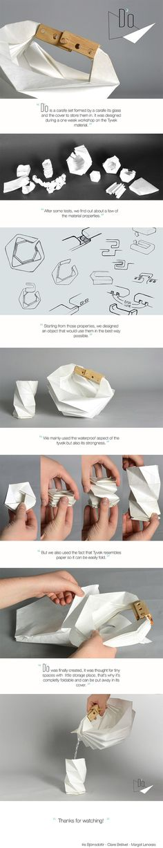 Thought this would be a bag. Smart design. Another use for Tyvek. | THE UT.LAB | TYVEK | Get creative with our materials *