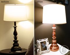 Re-Do your lamp in rose gold!